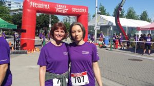 Kathy, after her first ever 5km race